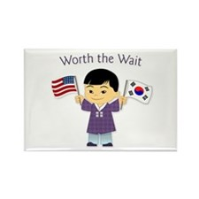 Worth the Wait ~ Korea Rectangle Magnet