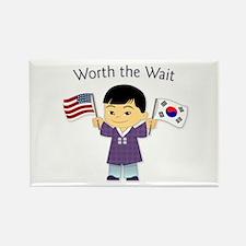 Worth the Wait ~ Korea Rectangle Magnet