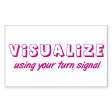 Turn Signal Rectangle Sticker - Pink