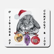 Lop Rabbit Christmas Mousepad