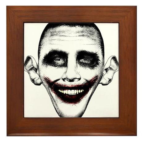 Obama Joker Framed Tile