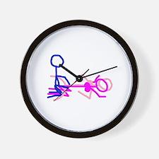 Stick figure 5 Wall Clock