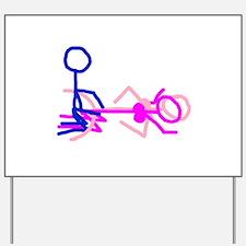 Stick figure 5 Yard Sign
