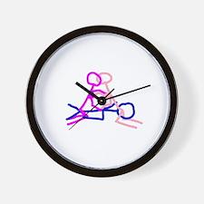 Stick figure 6 Wall Clock