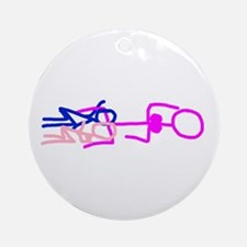 Stick figure 7 Ornament (Round)