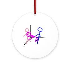 Stick figure 8 Ornament (Round)