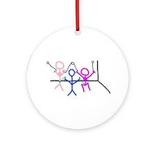 Stick figure 9 Ornament (Round)