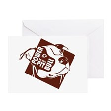 Power to the Pit Bull Greeting Card