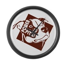 Power to the Pit Bull Large Wall Clock