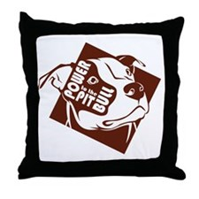 Power to the Pit Bull Throw Pillow
