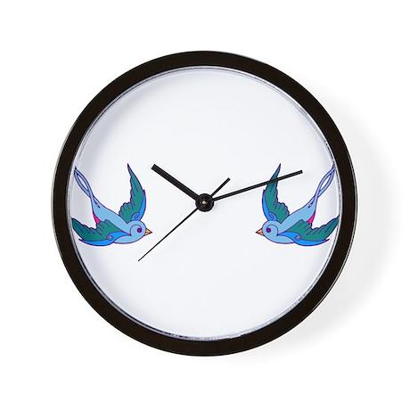 tattoo birds Wall Clock