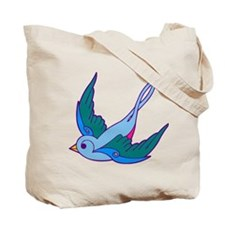 tattoo birds DOUBLE SIDED Tote Bag