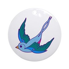tattoo birds Ornament (Round)