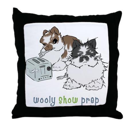 Jersey Wooly Show Prep Throw Pillow