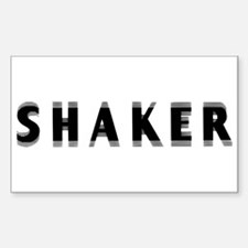 Shaker Rectangle Decal