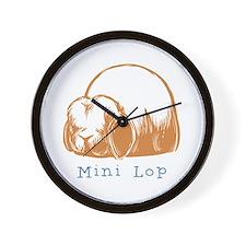 Orange Mini Lop Wall Clock