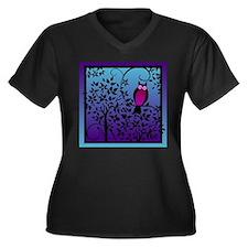 Unique Funky Women's Plus Size V-Neck Dark T-Shirt