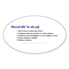 Definition of a Liberal Oval Decal