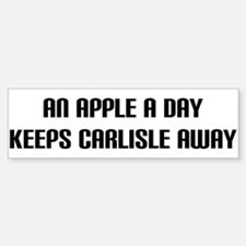 """An Apple a Day"" Bumper Bumper Bumper Sticker"