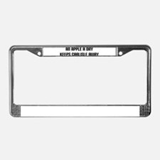 """An Apple a Day"" License Plate Frame"