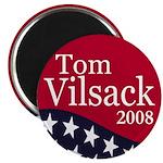 Tom Vilsack 2008 Round Magnets (100 pack)