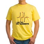 I Get Off On Tangents Yellow T-Shirt