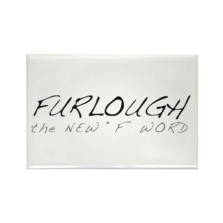 Furloughed Rectangle Magnet