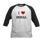 I Love MINAL Kids Baseball Jersey