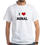 I Love MINAL White T-Shirt