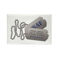 Uncle Dog Tags Rectangle Magnet (100 pack)