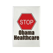 Stop Obama Healthcare Rectangle Magnet