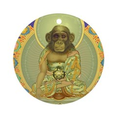 Chimp Buddha Ornament (Round)