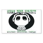 HTS Gas Mask Rectangle Sticker