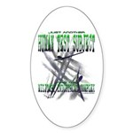 Spray Planes Oval Sticker