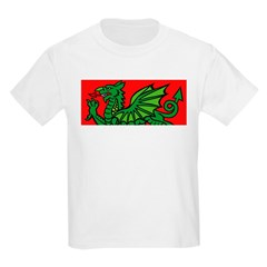 Green on Red Dragon Kids T-Shirt