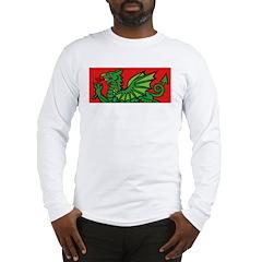 Green on Red Dragon Long Sleeve T-Shirt