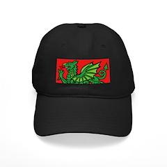 Green on Red Dragon Baseball Hat