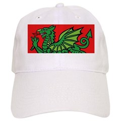 Green on Red Dragon Baseball Cap