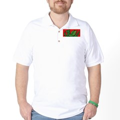 Green on Red Dragon Golf Shirt