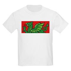 Green on Red Dragon Kids T-Shirt
