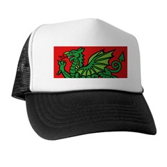 Green on Red Dragon Trucker Hat