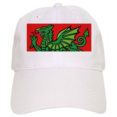 Green on Red Dragon Baseball Cap