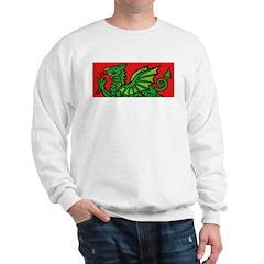 Green on Red Dragon Sweatshirt