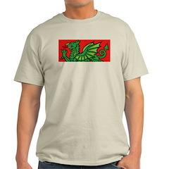 Green on Red Dragon Ash Grey T-Shirt
