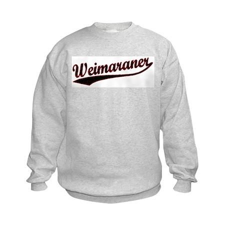 Weimaraner Varsity Kids Sweatshirt