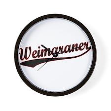 Weimaraner Varsity Wall Clock