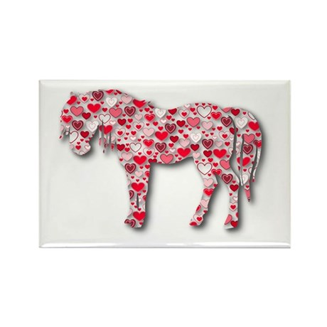 HEARTHORSE - Red Rectangle Magnet (10 pack)