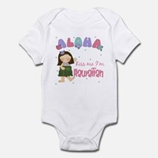 Kiss Me I'm Hawaiian Kids Infant Bodysuit
