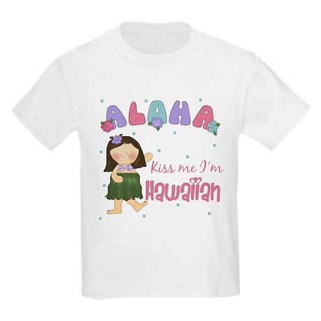 Kiss Me I'm Hawaiian Kids Light T-Shirt