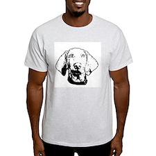 Weimaraner Face Ash Grey T-Shirt